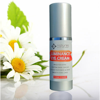 Luminance Organic Eye Cream-Instantly Tightens And Firms The Skin Around The eye Smoothing Fine Lines And Wrinkles. Flushes Toxins And Fluid From Under The Eye Reducing Puffiness, Bags, Dark Circles