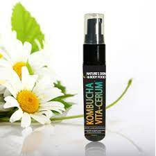 Kombucha Vitamin C Serum - delivers live probiotic cultures and high dose liposomal Vitamin C into the skin.
