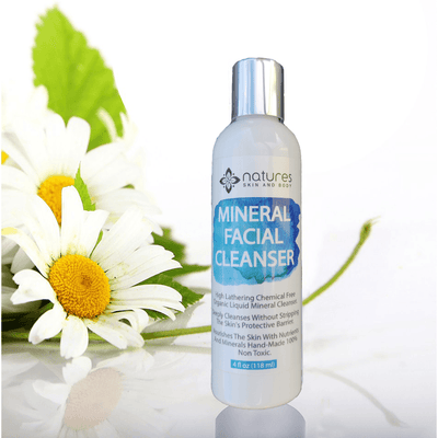 Mineral Facial Cleanser-High Foaming Facial Cleanser Without Any Chemical Surfactants (ingredients that make lather). Cleans And Nourishes Without Stripping Or Damaging The Skin.