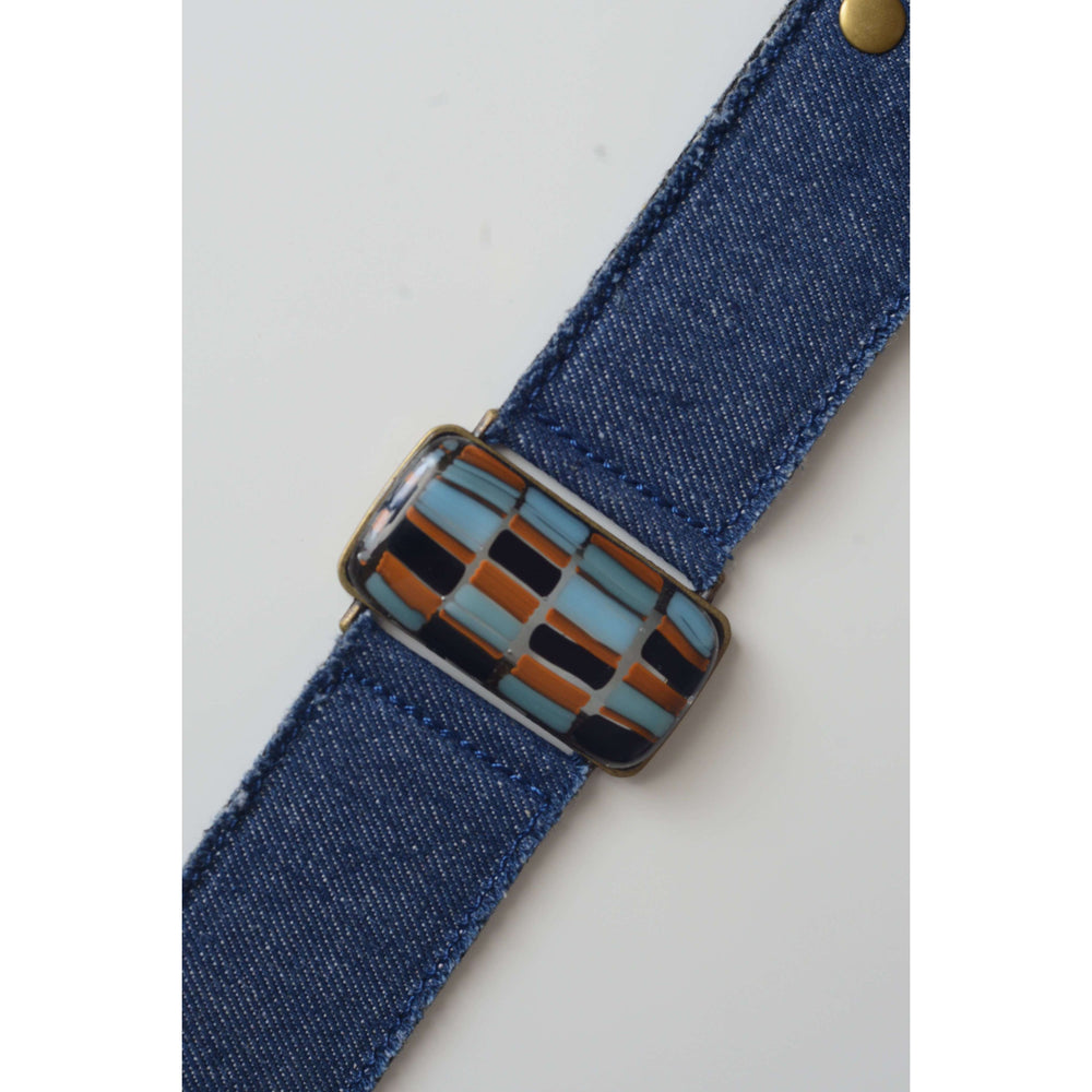 Retro collection- Denim strap with shades of blue design