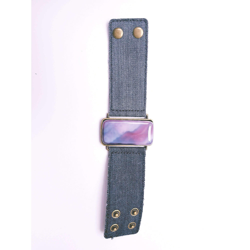 Ilanit Bracelet- Jeans band with marble purple