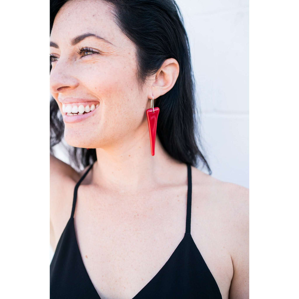 Shir earring long- Red