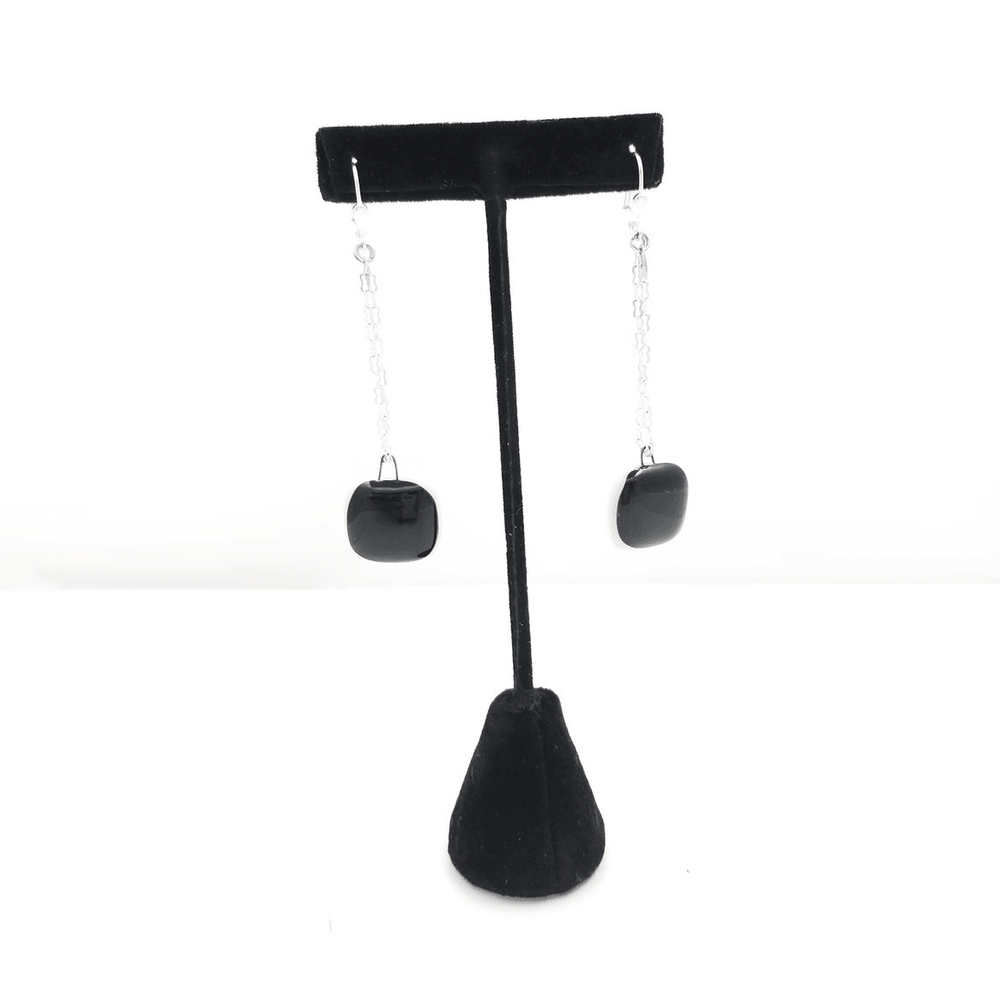 Timeless collection earring- chain black and white