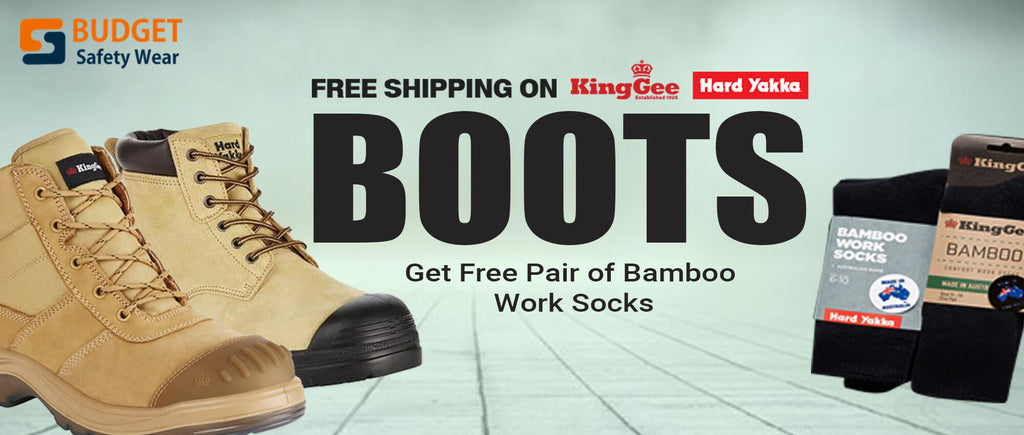 Free Shipping on King gee and hard yakka Boots at Budget Safety Wear