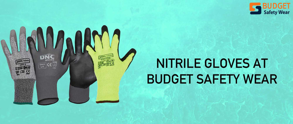 Protect your hands today with Nitrile Gloves at Budget Safety Wear