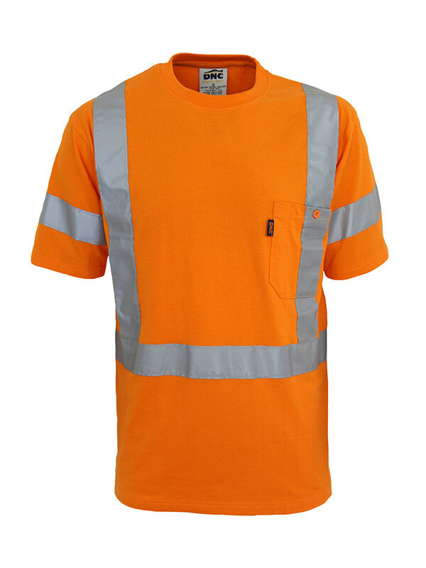 Dnc Hi-Vis Cotton taped Tee Short Sleeve ( 3917 )
