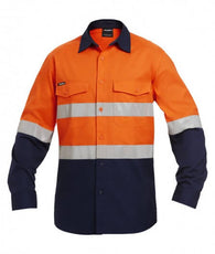 KingGee K54880 Workcool 2 Hi-Vis Reflective Spliced Shirt Long Sleeve