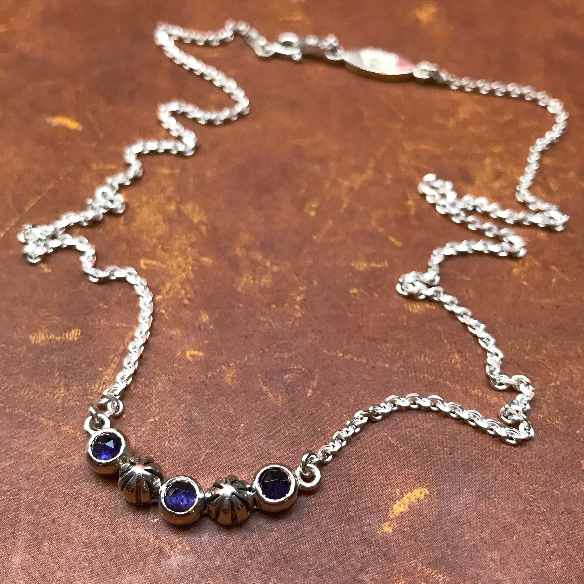 etsy pendant handmade iolite with necklace via silver bezel teardrop sterling set pin kyanite