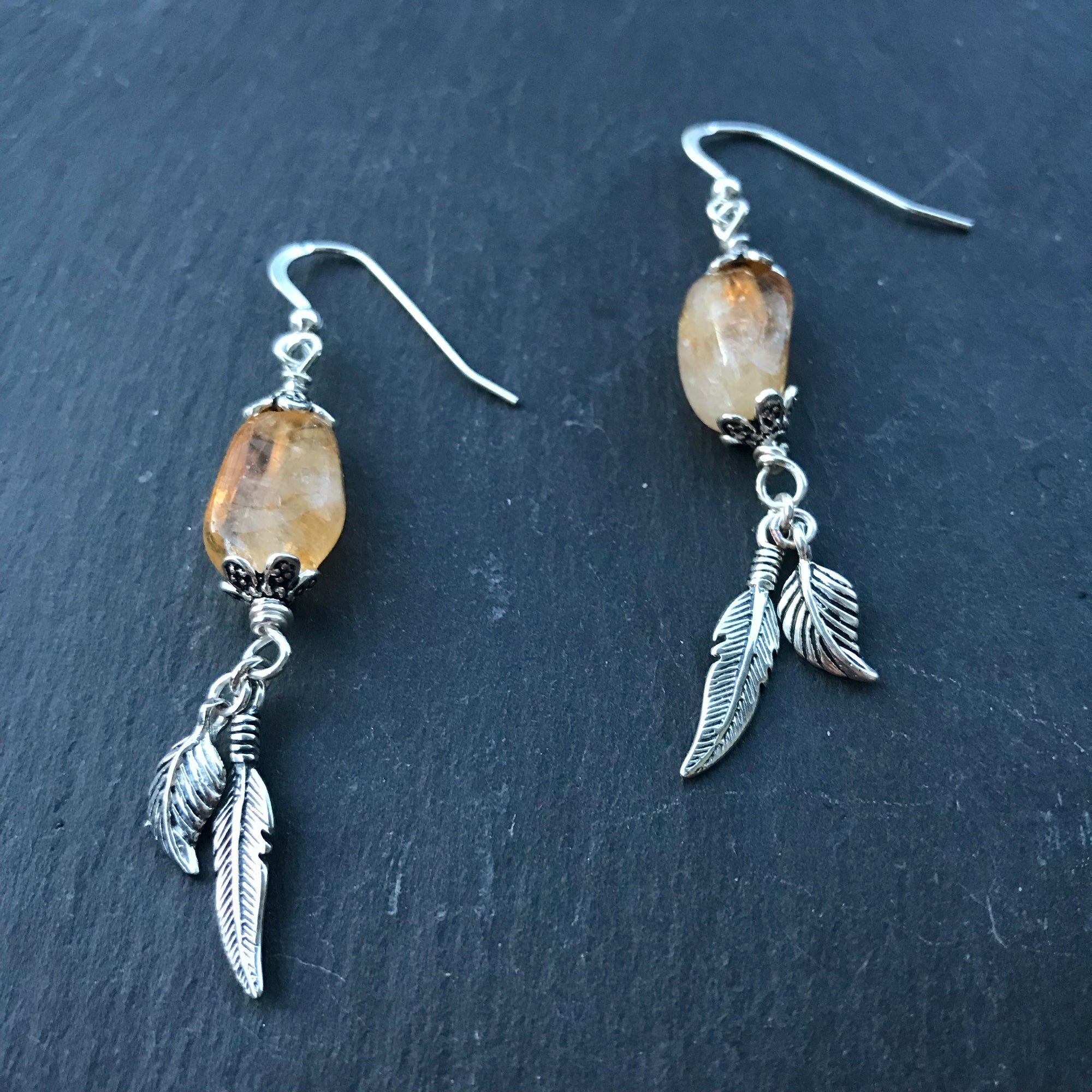 Little Wing Earrings - Honey