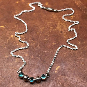 Starry Sky Necklace - London Blue Topaz