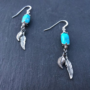 Little Wing Earrings - Sky