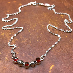 Starry Sky Necklace - Garnet