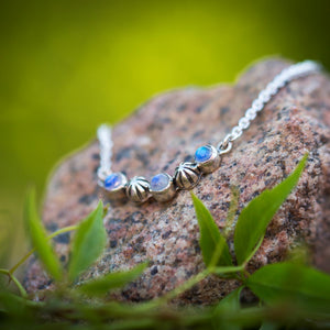 Starry Sky Necklace - Rainbow Moonstone