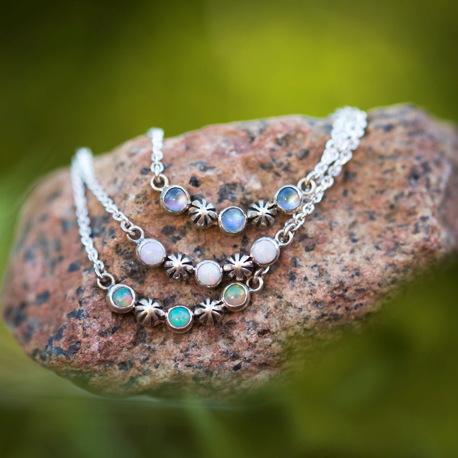 Starry Sky Necklace - White Opal
