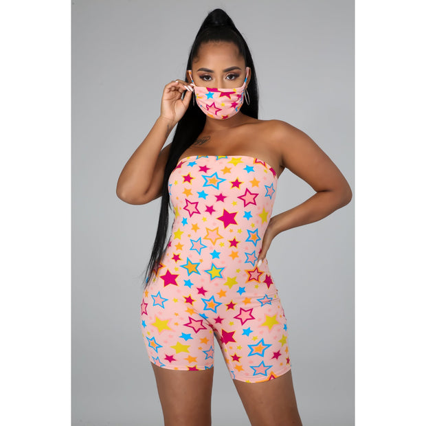 All Star Romper and Mask Set