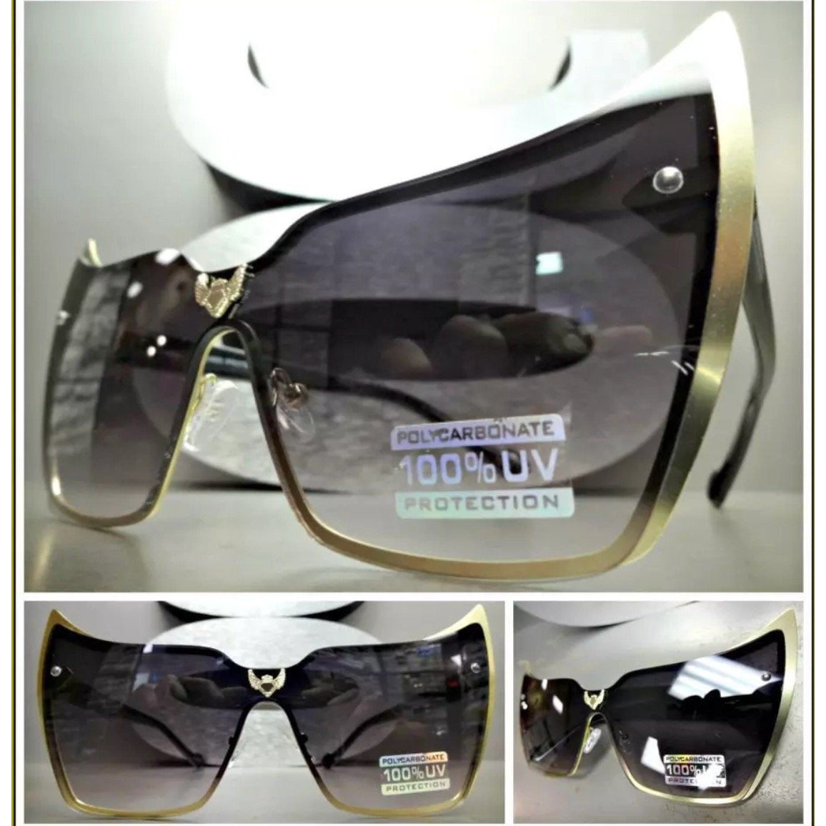 Gold Frame Cateye Sunglasses