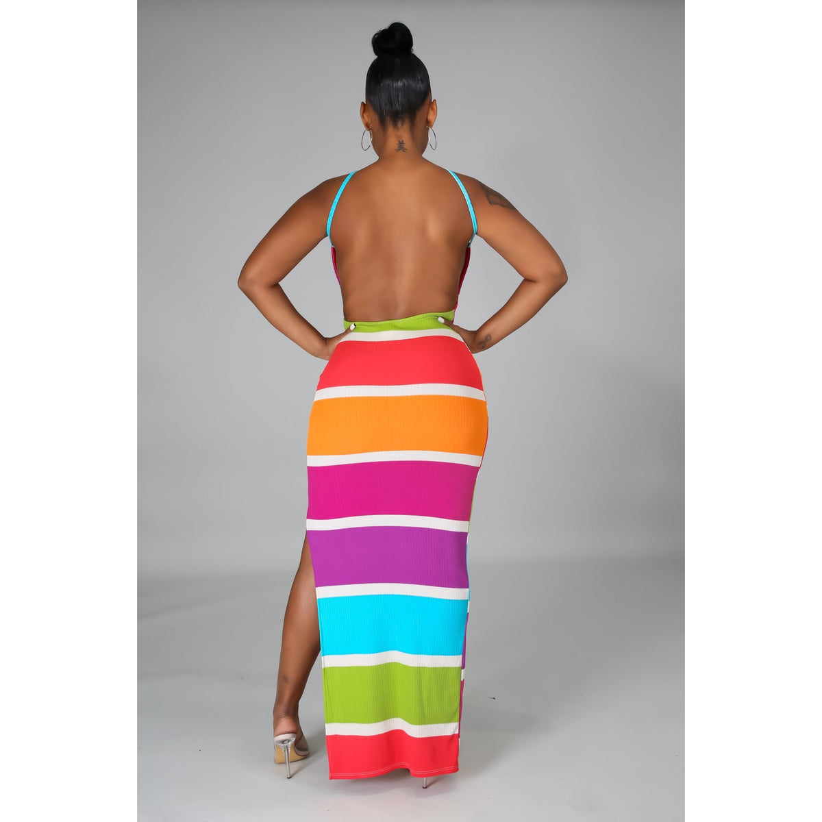 Back At It Stripe Maxi Dress