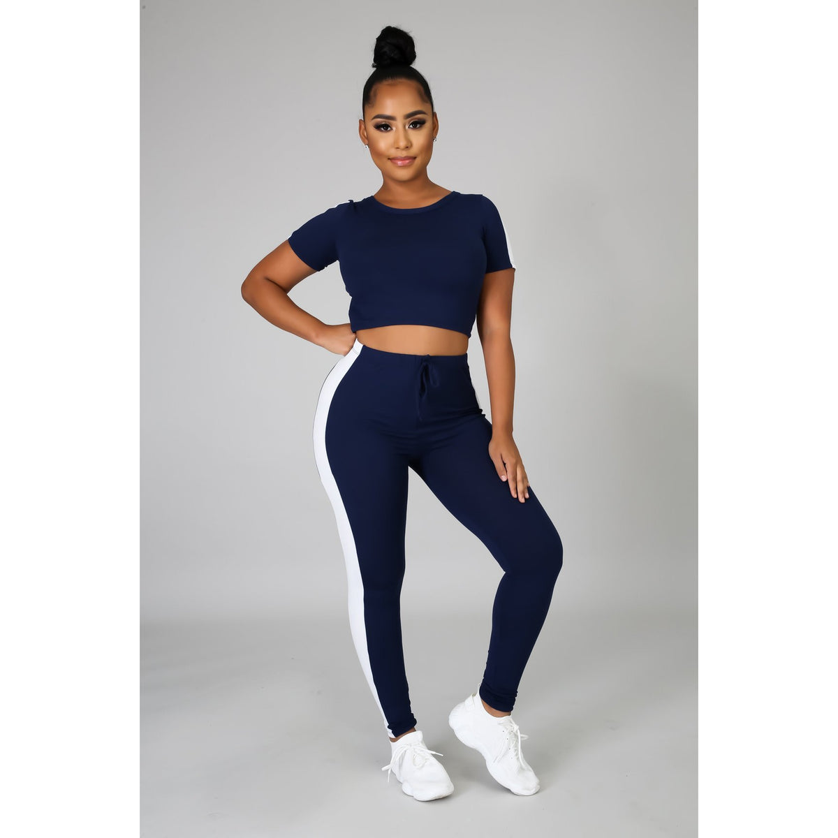On The Go Crop Top Legging Set