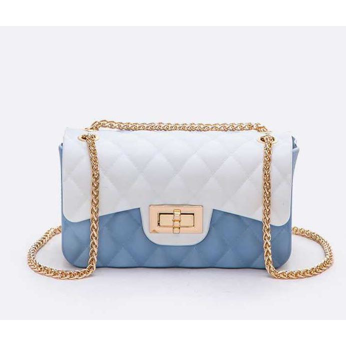 Mini Quilted Two Tone Jelly Crossbody Handbag