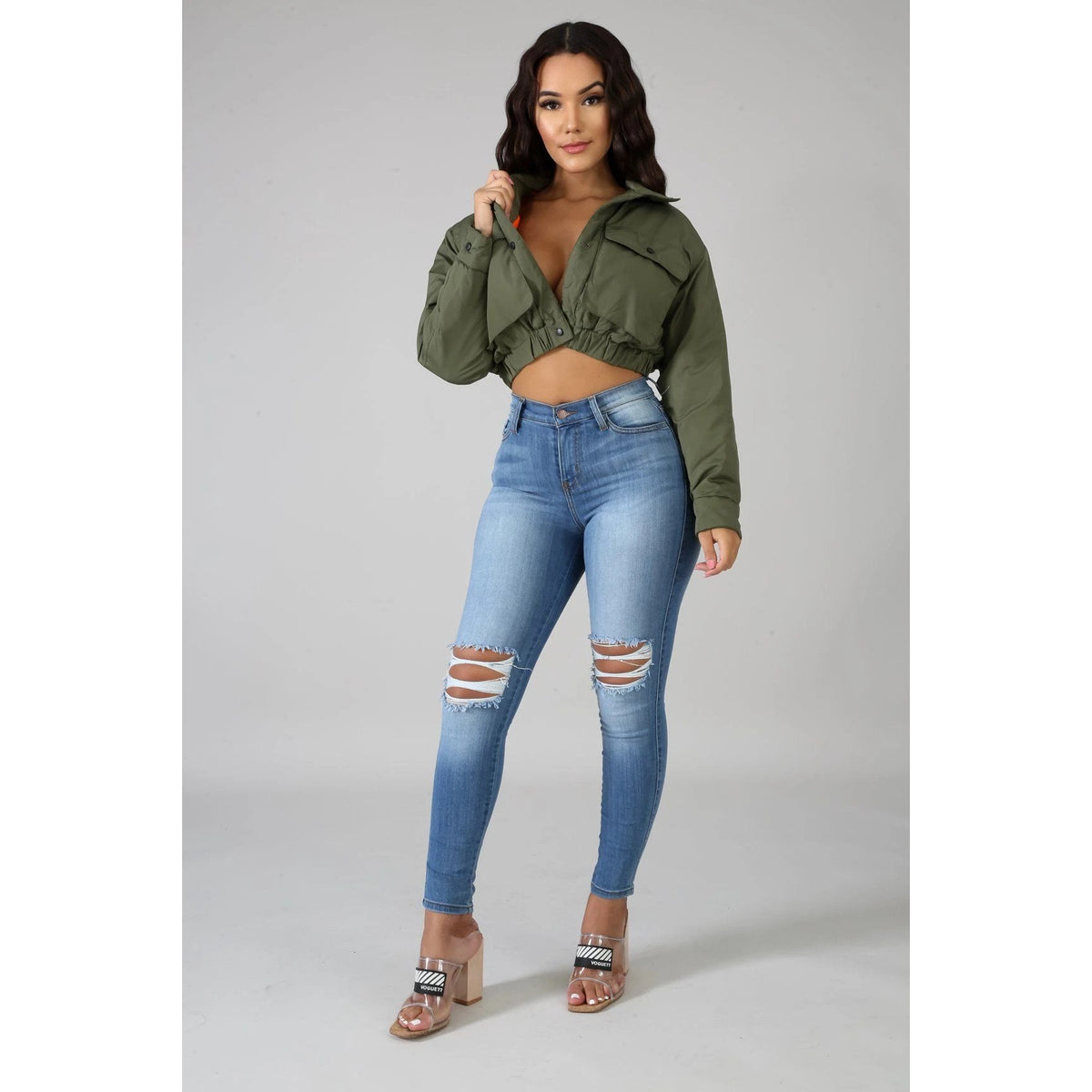 Bomber Crop Jacket