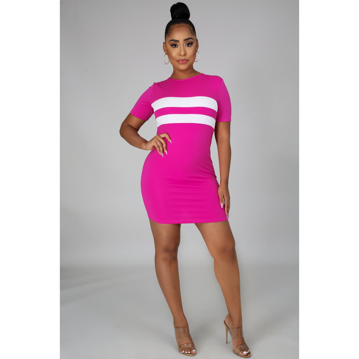 Line Trim Babe Dress