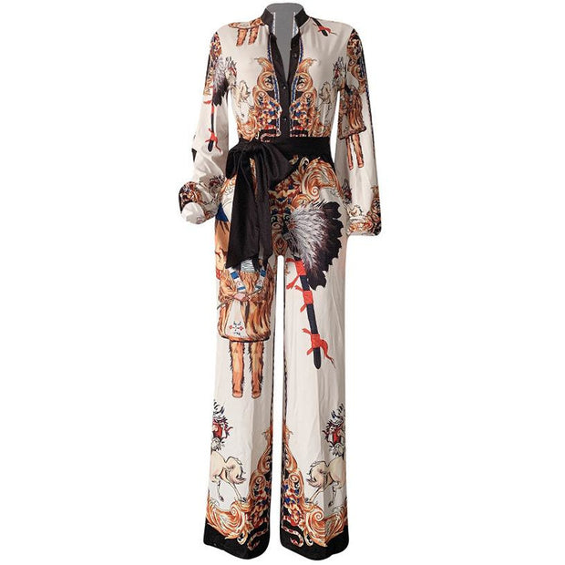 Trish Graphic Indian Print Jumpsuit