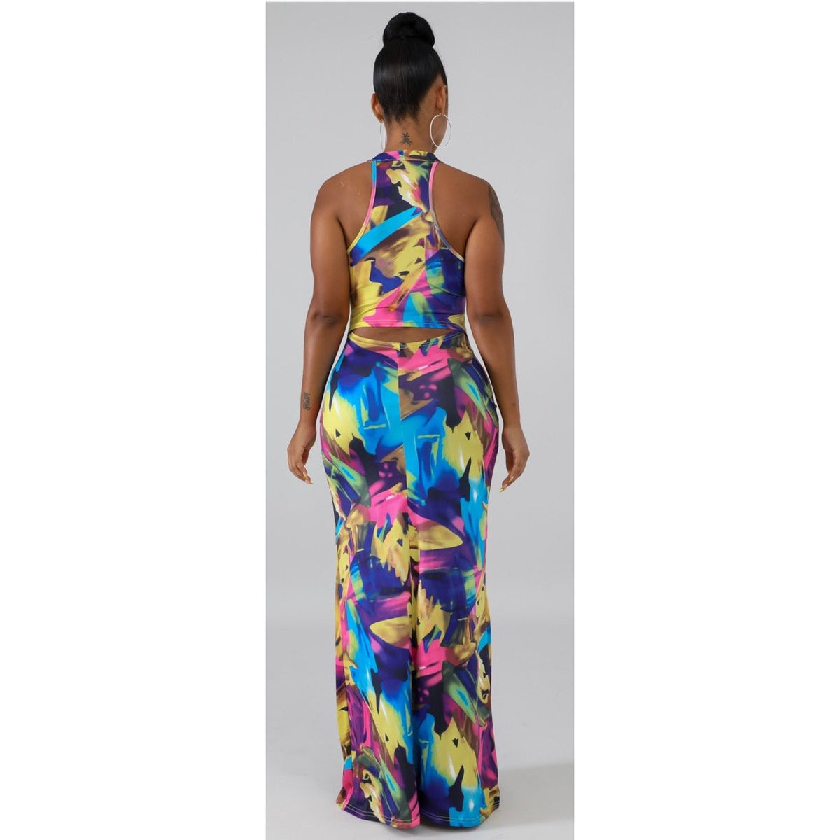 Water Color Tie Dye Maxi Dress