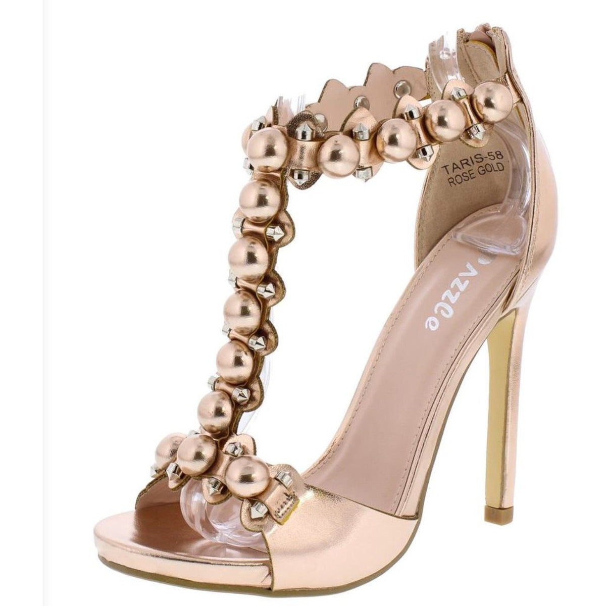 Kim Rose Gold Patent Leather Stiletto Shoes