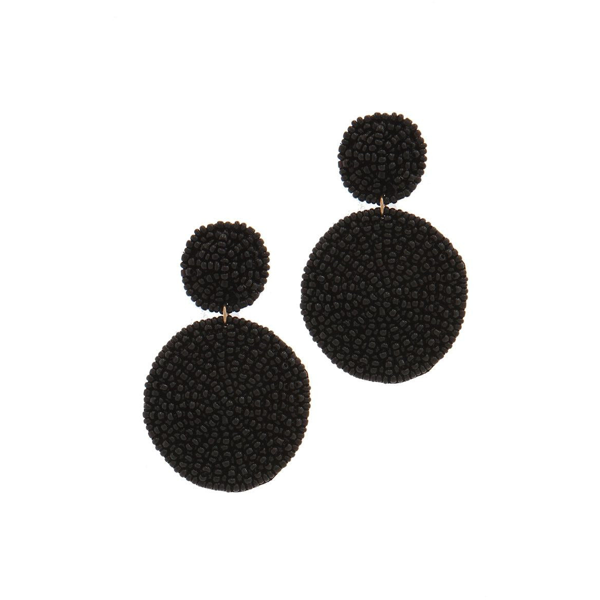 Circle Seed Bead Drop Earring