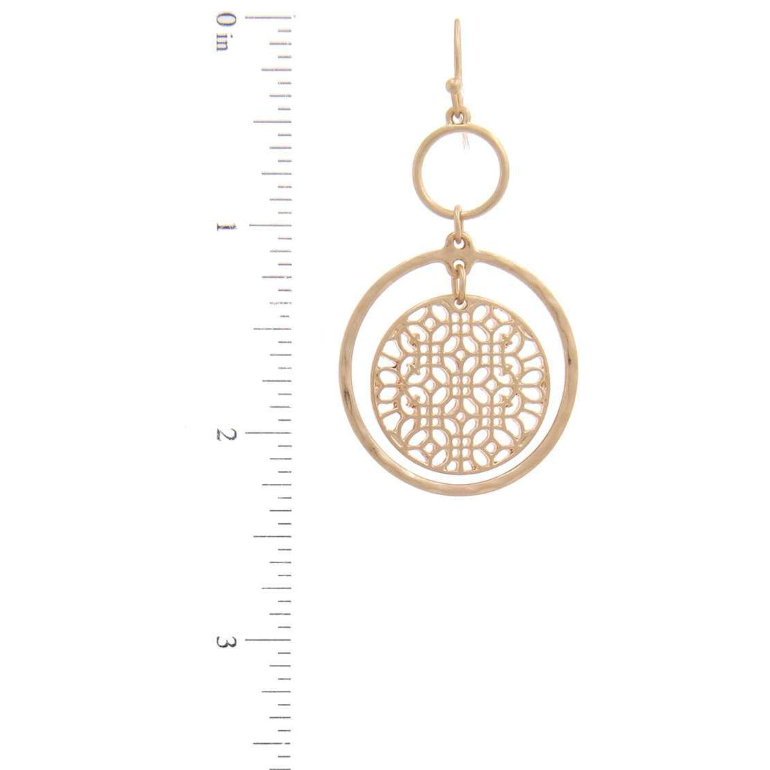 Double Circle Drop Earring