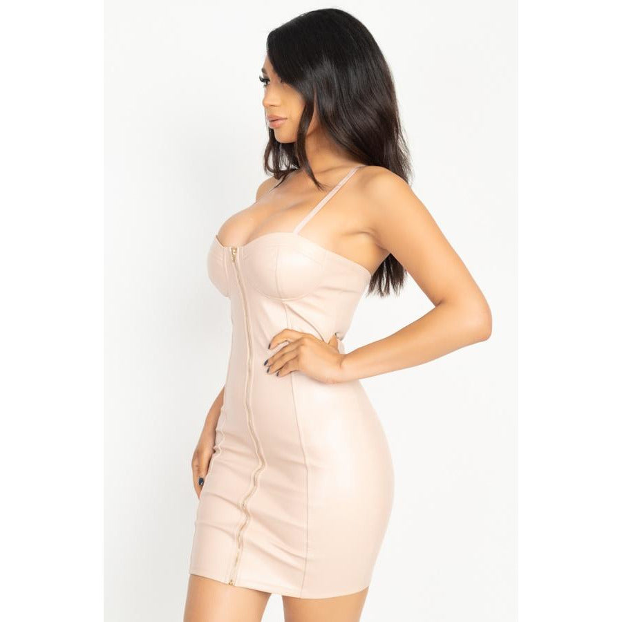 Night Out Front Zip Dress