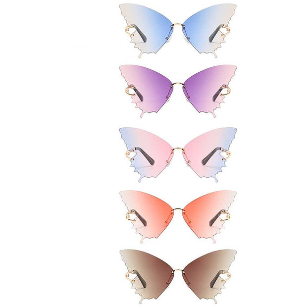 Colored Butterfly Design Sunglasses