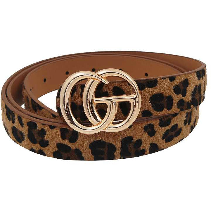 Leopard Fur Belt
