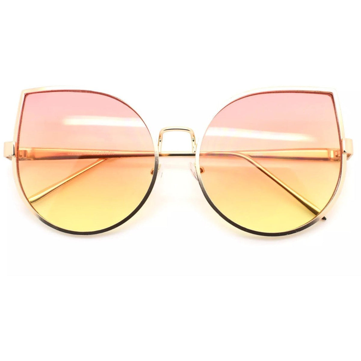 Oversized CatEye Metal Frame Sunglasses Glasses - Poshed Apparel - 3