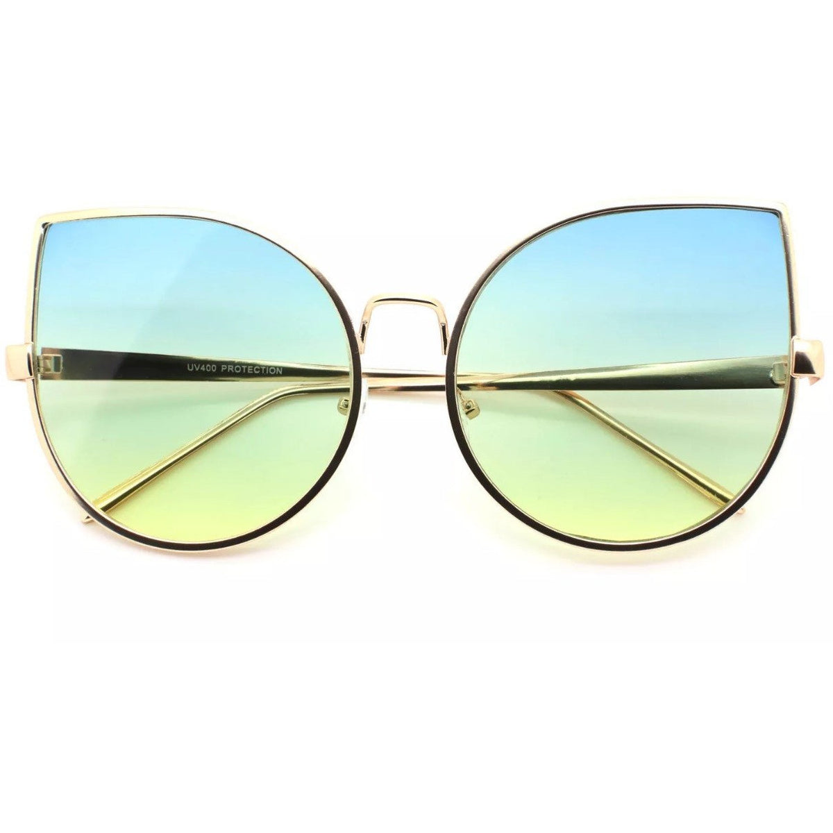 Oversized CatEye Metal Frame Sunglasses Glasses - Poshed Apparel - 4