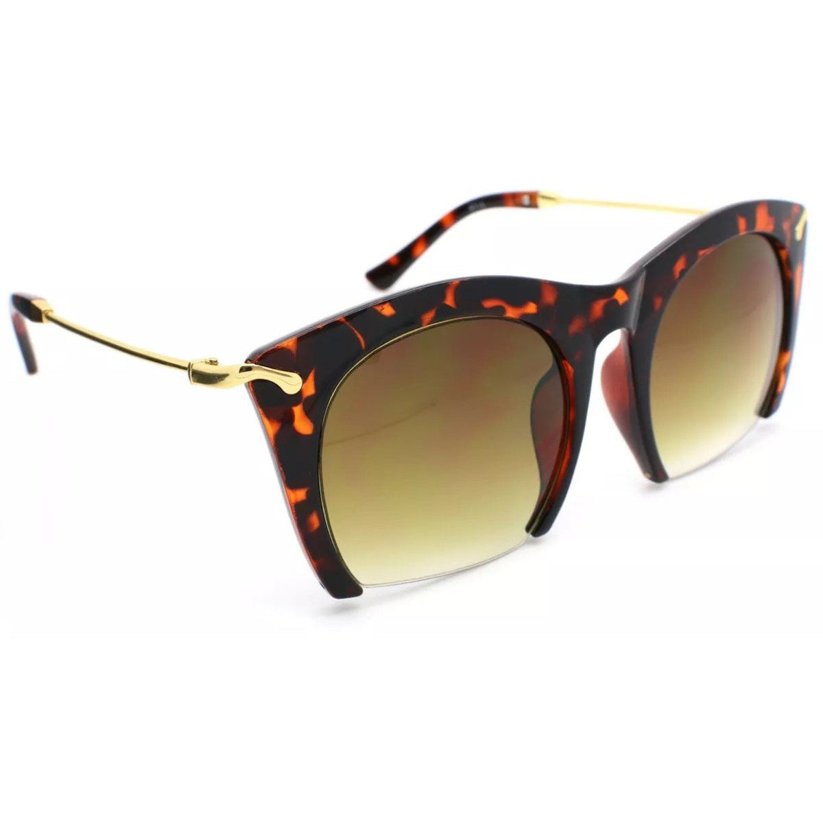 Semi Rimless Metal Arm Sunglasses - Poshed Apparel - 2