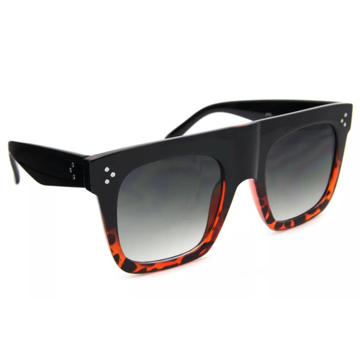 Flat Top Thick Frame Sunglasses