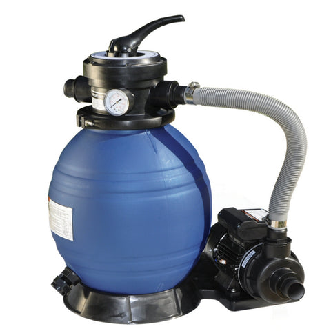 "Model 71225 Complete 1/3 HP, 1200 GPH, 12"" Tank Sand Filter System"