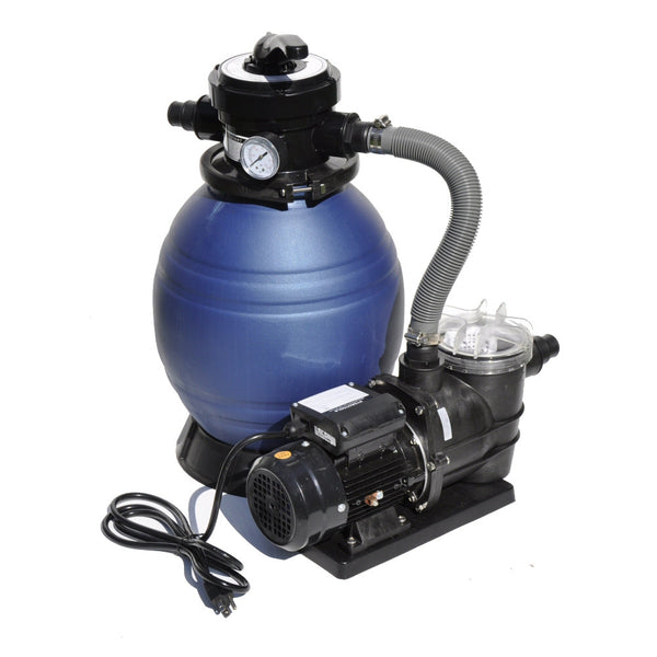 "Model 71233 Complete 1/3 HP, 1200 GPH, 12"" Tank Sand Filter System w/ Debris Trap Pre-Filter"
