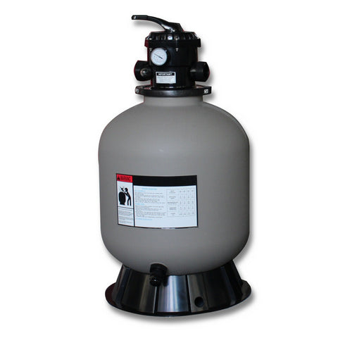 Model 71400 14 Inch Sand Filter Tank with 4 Way Valve and Base