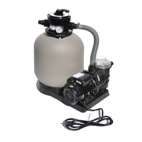 "Model 71405 Complete 1/2 HP, 2400 GPH, 14"" Tank Sand Filter System"