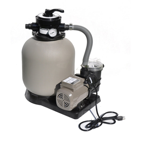 "Model 71405T Complete 1/2 HP, 2400 GPH, 14"" Tank Sand Filter System with Timer"