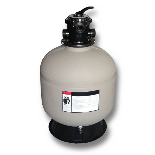 Model 71600 16 Inch Sand Filter Tank with 6 Way Valve and Base