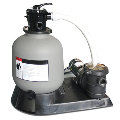 "Model 71915 Complete 1.5 HP, 2940 GPH, 19"" Tank Sand Filter System"