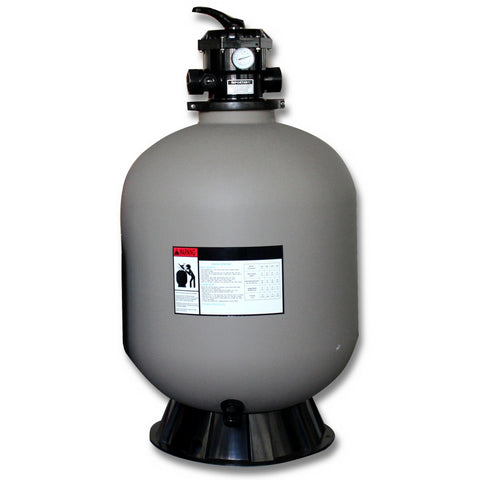 Model 71900 19 Inch Sand Filter Tank with 6 Way Valve and Base