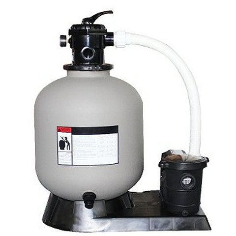 "Model 72420 Complete 2.0 HP, 4980 GPH, 24"" Tank Sand Filter System"