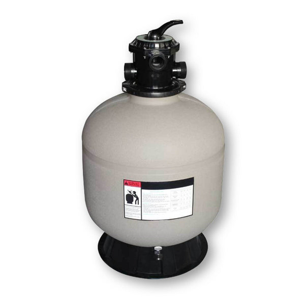 Model 72400 24 Inch Sand Filter Tank with 6 Way Valve and Base