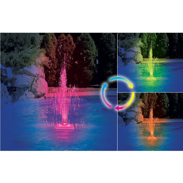Model 85955 Floating LED Lite-Up Pool Fountain