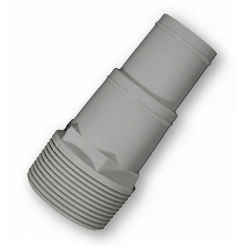 "Model 8905G 1-1/4"" thru 1-1/2"" Hose Adapter for Pumps and Skimmers, Grey"