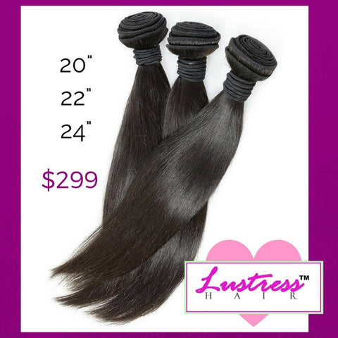 *Bundle Deal*- Straight Virgin Remy Hair Extensions-20, 22, 24 inches